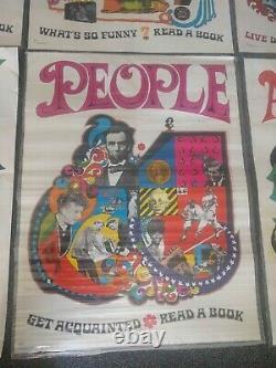 1968 Teacher 6 Poster Set Scholastic Arrow Laugh-In Very Rare Original Beauty