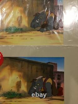 1991 TMNT Cartoon Cel Animation Art Set Of 4 Rocksteady Sealed COA PV16