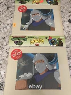 1991 TMNT Cartoon Cel Shredder Animation Art Set Rare Sealed COA PV1
