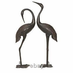 2 Piece Statue Set Sculptures Figurine Outdoor Garden Yard Decor Art Ornament