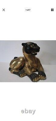 2- Rare Manifattura Gilded And Glazed Porcelain Cat (set of 2)