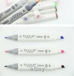 204 Color SET Liit 6 Alcohol Graphic Art Twin Tip Pen Marker Animation