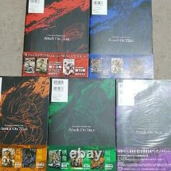 ATTACK ON TITAN / Shingeki No Kyojin Art Book 1-5 All 5 set Used Japanese ANIME