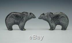 Abraham Palatnik Modern Lucite Polar Bears Pair Set Of 2