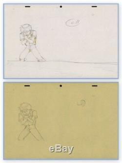 Akira Anime Genga Set for Cel Animation Art Kaneda Wretching Otomo COA 1988