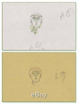 Akira Anime Genga Set for Cel Animation Art Kaneda in Leather Otomo COA 1988