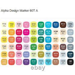 Alpha Design Marker Twin Tip 60A Color Graphic Art Marker illustration Animation