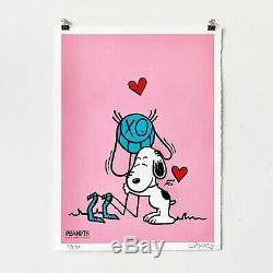 André Saraiva Print Set Mr. A Loves Snoopy (Pink)(Blue) Peanuts SilkScreen