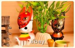 Anime Flower Clothes Fox 1 Cat Blind Box Cute Art Toy Figure Doll 1pc or SET