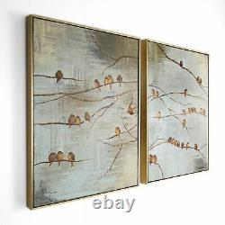 Art for the Home Flock of Birds Set 2 Printed Canvas