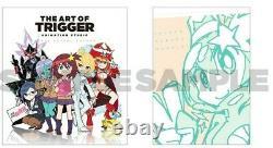 Art of Trigger Animation Studio 9 Space Patrol Luluco Art Book & paper set anime