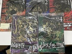 Attack on Titan season 1 art book obi 5 set ep 1 to 25 anime manga wit studio