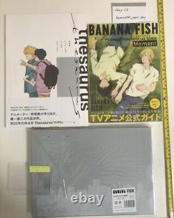 BANANA FISH KEY ANIMATION art book case & TV guide & theaurus set anime ash