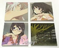 Bakemonogatari key animation Note Art Book Full color vol1&2 set Japan #105