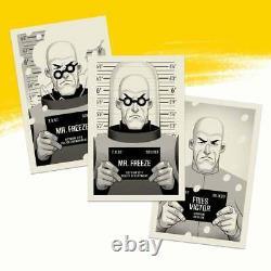 Batman animated series mondo Handbill print set Phantom City Creative Mr. Freeze