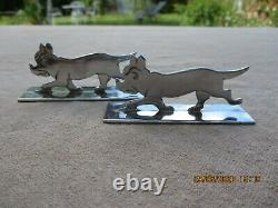 Benjamin Rabier French Art Deco Set Of 14 Knife Rests Stylized Chromed Animals