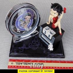 Betty Boop 3-D figurine calendar & art deco alarm clock desk set