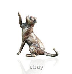 Bronze Cats Set of Three B&P Bronze Cat Sitting Standing Stretching