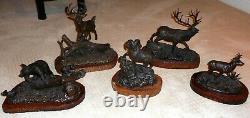 Bronze Sculpture Set of 5 by master sculptor Tim Trask