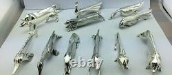 CHRISTOFLE GALLIA SANDOZ Knife knives Rest Holder Animals set ART DECO X12 TOP