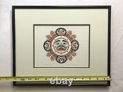 Canadian PNW Native Art Danny Dennis Carl Stromquist Framed Signed 11x13 Set 3