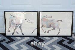 Carol Grigg Painted Ponies Diptych original art, framed, large, set of two