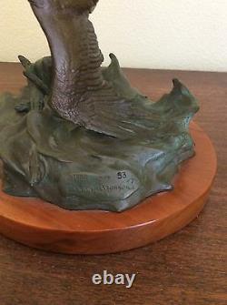 Clark E. Bronson Sculpture Set of Original Bronzes Both #53/75 Eagle's Conquest