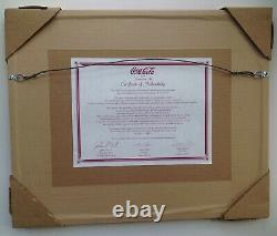Coca-Cola Limited Edition Framed Animation Art Cell From 1990s Setting Sun Ad