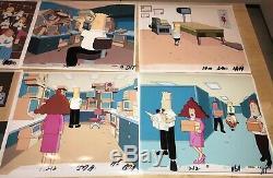 DILBERT Animated Series Original CEL ART Set of TEN, Plus Drawings, etc. NICE