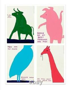 David Shrigley Animal series Set Of Four Exhibition Posters New