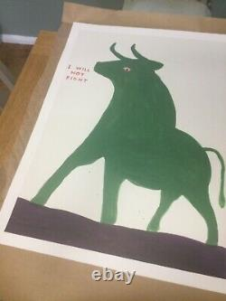 David Shrigley Set Of Four Offical Exhibition Posters Animals In Art
