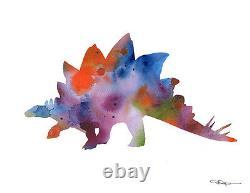 Dinosaur Set of 3 Watercolor 11 x 14 Art Prints by Artist DJR
