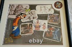 Disney Art of Animation, Goofy Moments Serigraph and Pin Framed Set, LE 2000