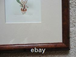 FRAMED Flintstones Set of three hand colored limited edition etchings