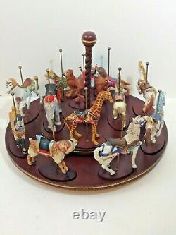 FRANKLIN MINT TREASURY OF CAROUSEL ART 1988 SET OF 12 ANIMALS (complete set)