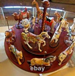 FRANKLIN MINT TREASURY OF CAROUSEL ART 1988 SET OF 12 ANIMALS (complete set)