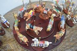FRANKLIN MINT TREASURY OF CAROUSEL ART 1988 SET OF 20 Horses & ANIMALS w Base