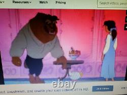 Fantastic Disney Beauty And The Beast 4 Cel Cell Production Set Up Animation Art