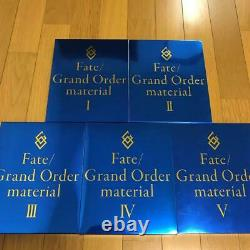 Fate Grand Order Material 1 5 Art Book Complete Five Set Anime