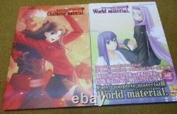 Fate World Hollow Extra Character Art Material I-V 1-5 Complete Set Animation