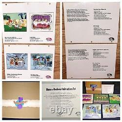 Flintstones Cel Hanna Barbera Signed Musical Box Set 5 Animation Art Cells
