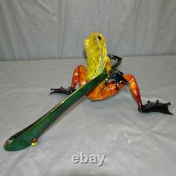 Frogman 2003 Tim Cotterill 18 Bronze Art Ready Set Go Frog Sculpture 5000/5000