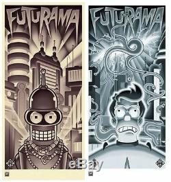 Futurama Bender's Big Score & The Beast With A Billion Backs Metallic Ink Art