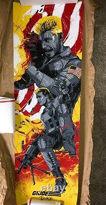 Gabz G. I. Joe 3 Poster Print Set SNAKE EYES # /100, Duke, Scarlet NOT MONDO