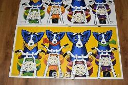 George Rodrigue Blue Dog The Rat Pack Matching Numbered Set of 3 Print