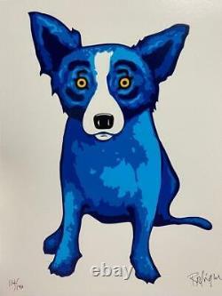 George Rodrigue Sunshine Purity Blue Skies 3 pce set Blue Dog Serigraph S/N