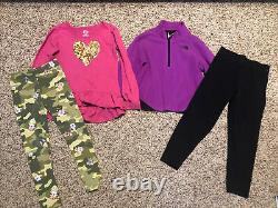 Girl's 4/5 5T Fall Winter Clothes Outfits Long Sleeve Shirts Leggings Sets Lot