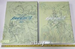 Ground work of evangelion 1.0 2.0 3.0 animation art book sealed 5 set eva anime