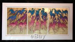 Guillaume AZOULAY CavalcadeI, II, III, 3set Hand SIGNED GOLD MAKE AN OFFER