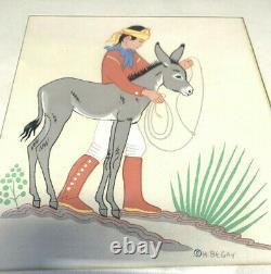 H. (Harrison) Begay Listed Artist Silk Screen/ Serigraph 1950s set 5 & 1 kai sa